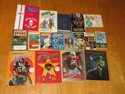 OLD SPORTS BOOKS NFL RECORDS STEELERS HARLEM GLOBETROTTERS NCAA HEISMANN kEDS -