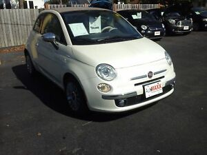 2014 FIAT 500C LOUNGE- LEATHER HEATED SEATS, BLUETOOTH, SATELLIT
