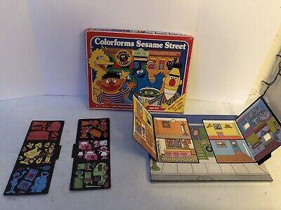 Vintage Sesame Street Colorforms ~ Bert Ernie Big Bird Mostly Complete Set