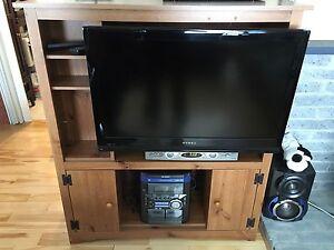 Meuble de télévision avec rangement
