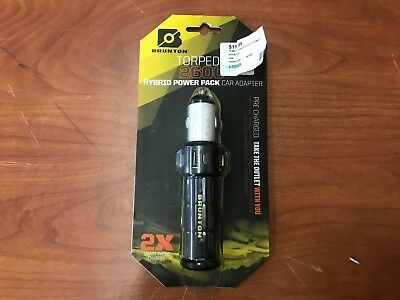 Brunton Torpedo 2600 mAh 2x Charge Battery Charger Cigarette Lighter Portable