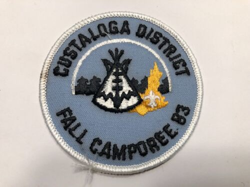 BSA Custaloga District Fall Camporee 1983 Patch  *Boy Scouts of America*