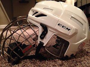Ccm D3O White Hockey Helmet