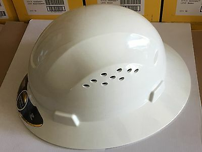 Hdpe Natural Full Brim Hard Hat With Fas-trac Suspension
