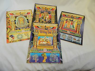 2 Egyptian Papyrus Look Paper Writing Pad Note Pad 6.5 X 9.5