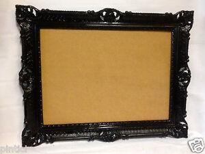 bilderrahmen schwarz barock hochzeitsrahmen antik 90x70 bilderrahmen 50x70 gro ebay. Black Bedroom Furniture Sets. Home Design Ideas