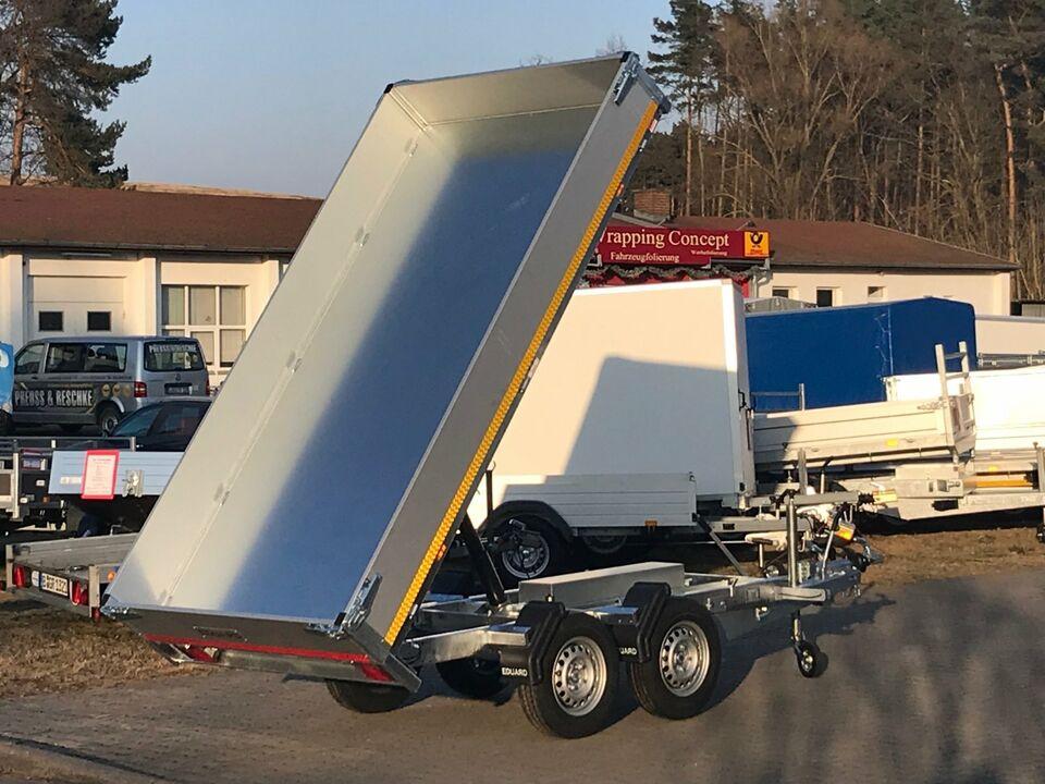 ⭐ Anhänger Eduard e-Kipper 2700kg 311x160x30cm Rampen ALU 63 in Schöneiche bei Berlin