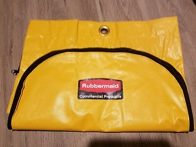 Brand New Rubbermaid 21 Gal. Zippered Vinyl Cleaning Cart Bag Yellow 1966719