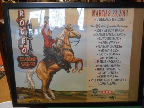 Great Collectible AUSTIN RODEO Framed Poster Print-March 8-23, 2013
