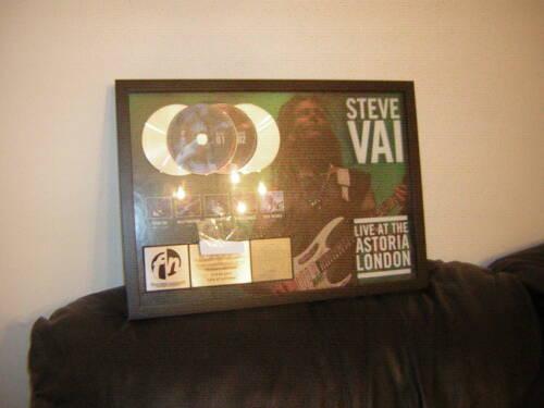 STEVE VAI RIAA SALES AWARD LIVE AT THE ASTORIA LONDON BILLY SHEEHAN 2005 DVD