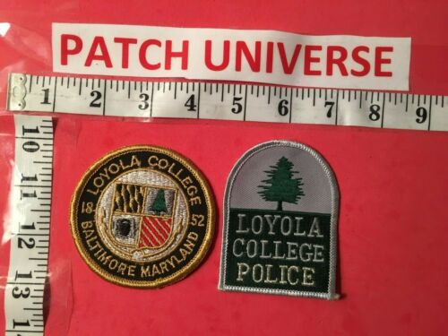 LOT OF TWO DIFFERENT LOYOLA  COLLEGE  MD POLICE  SHOULDER PATCH     A068
