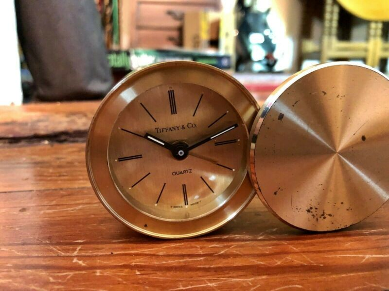 Tiffany & Co. Swiss Quartz Swivel Travel Desk Alarm Clock