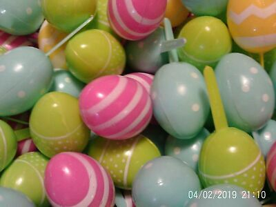 - 12 Easter Egg 3D  Cupcake Party Picks  Eggs Pastel Vintage  You will love theses