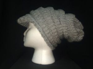 Knit Slouchy hats with brim