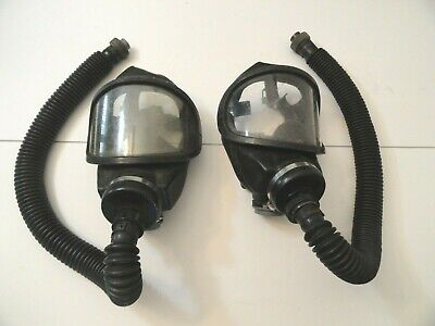 Wholesale Gas Masks (Two Vintage MSA Firemans Gas Masks With Hose Pat# 4,007,758 Good Condition)