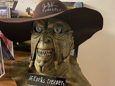 Jeepers Creepers Rare Latex Mask And Signed Hat 2014