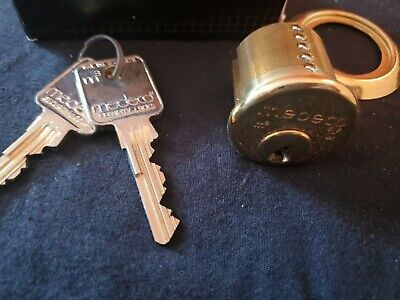 Medeco Rim Cylinder Locksmith High Security Lock 2 Keys. 1 18