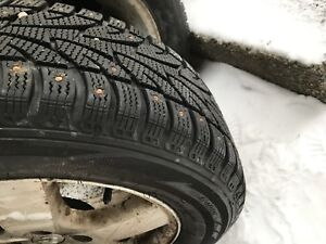 225/60/16 studded winters on rims