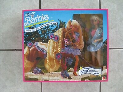 #3712 ALL AMERICAN BARBIE DOLL & STAR STEPPER HORSE GIFT SET