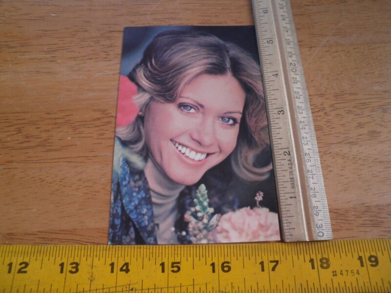 1977 Olivia Newton John Fan club postcard NM VINTAGE