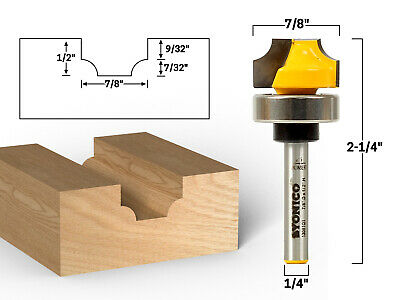 732 Radius Round Over Groove Router Bit - 14 Shank - Yonico 13081qt