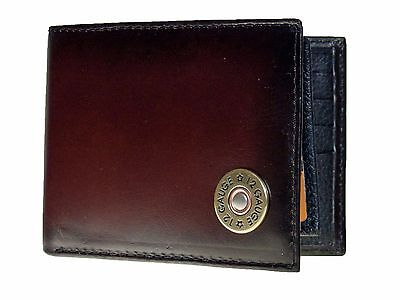 Nocona Mens Western Wallet  Bi-fold With Pass Case Shotgun Shell Leather -