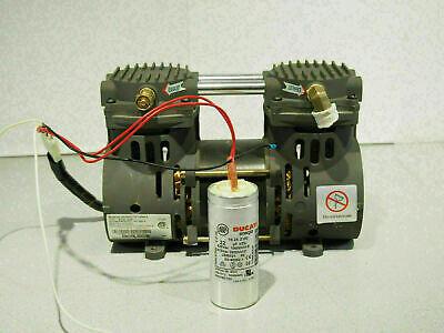 Devilbiss Zw280d2-751.4 Air Vacuum Compressor Pump 15 - 19 In Hg 25 - 45 Psi