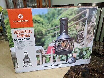 🔥La Hacienda Tuscan Steel Chiminea,Fire Pit, Log Burner, Patio Heater.🔥