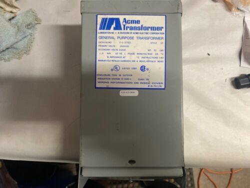 Acme T-1-37921 240/480V Pri 24/48 Sec General Purpose Transformer