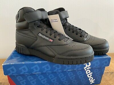 BRAND NEW REEBOK EXOFIT Hi Top DESIGNER Sports trainers ALL BLACK Colour...