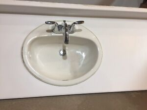 Bathroom sink and vanity top