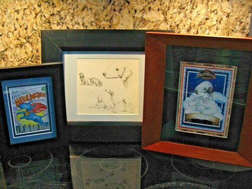Bedlington Terrier Prints Framed & Matted * Lot of 3 * 14 x 12,  12 x 11,  9 x 7