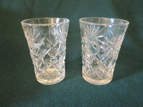 2 Vintage EAPC Prescut Crystal Juice Glasses