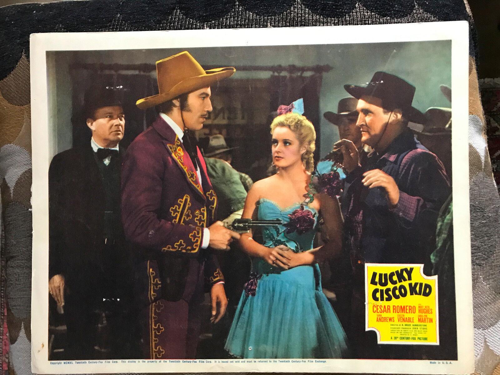 Lucky cisco kid 1940 20th century fox western lobby card cesar romero mary beth