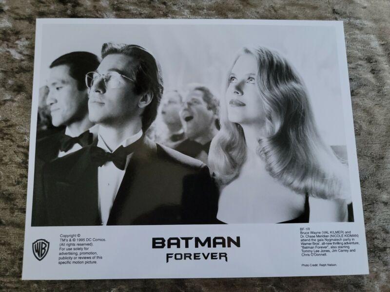 Batman Forever original movie photo  #1R - Val Kilmer, Nicole Kidman - 8 x 10