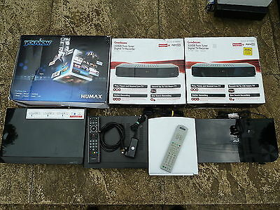 JOB LOT AV ACCESSORIES Untested Faulty Freeview DVR Youview Box Bluray DVD Humax