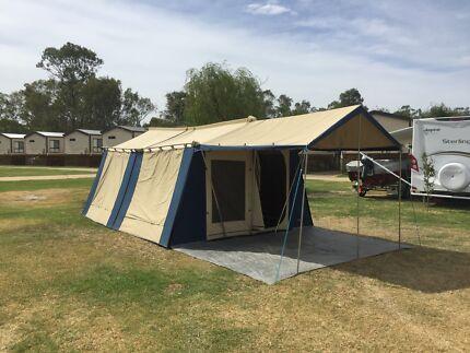 Diamantina 2 Room Canvas Cabin Tent u0026 Sunroom + Lots C& Gear & canvas tent in Melbourne Region VIC | Camping u0026 Hiking | Gumtree ...