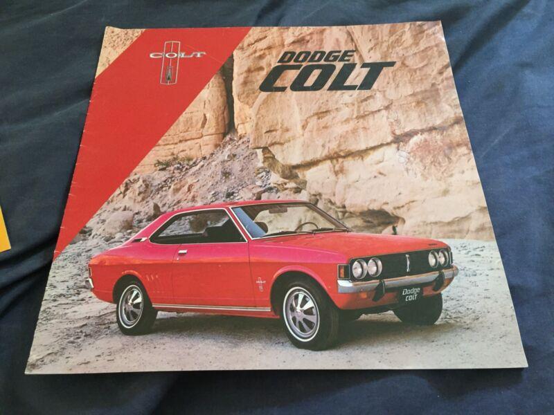 1971 1972 Mitsubishi Lancer Dodge Colt USA Market Brochure Catalog Prospekt