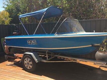 Boat with as new Merc 15hp 2 stoke