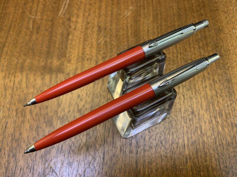 Parker Jotter Chilli Red /& Stainless Steel Ballpoint Pen Brass New In Box Usa
