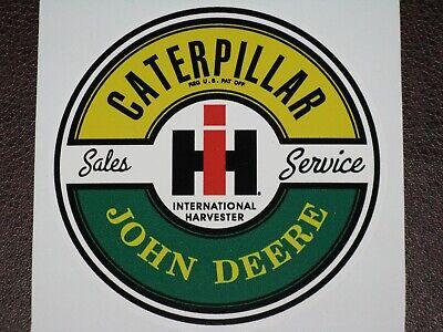 John Deere Caterpillar International Harvester Sales Service Sticker Decal
