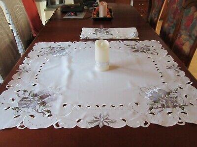 hts-Tisch-decken- Mitteldecken-  mit Weihnachtsmotiven,  (Weihnachts-tischdecken)