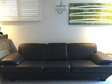 Brown Leather 3 Seater Lounge - Made in Australia - Retails $4299 Cammeray North Sydney Area Preview