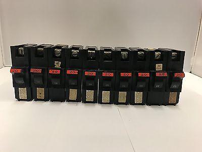 Fpe Na20 Stab Lok Circuit Breaker 20 Amp 1 Pole 120240 Box Of 10