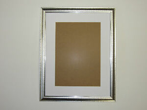 two tone silver 16 x 20 picture photo frame mount 11 5 x 15 5 to hang ebay. Black Bedroom Furniture Sets. Home Design Ideas