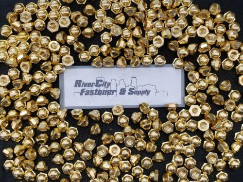 (10) 5/16-18 Brass Acorn / Dome / Cap Hex Nut 5/16 x 18 Nuts 5/16x18 Nut