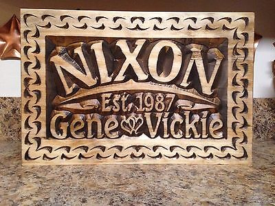 - PERSONALIZED FAMILY LAST NAME GIFT WEDDING ESTABLISHED DATE SIGN WOODEN PLAQUE