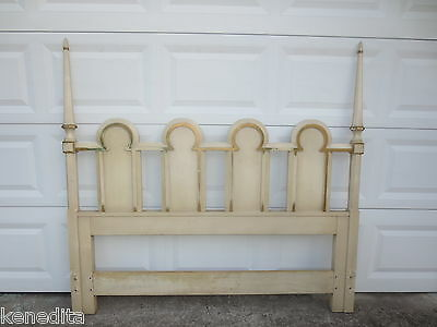 Arched Queen dowager Size Headboard French Provincial Louis XVII Shabby Chic Gothic