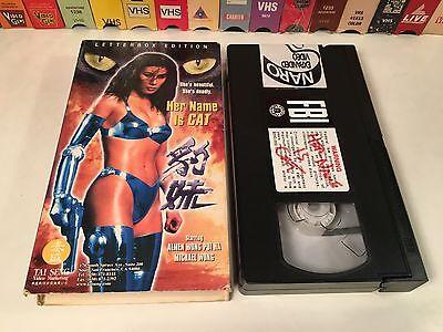 * Her Name Is Cat aka Pau Mui Rare VHS 1998 Crime Action Almen & Michael Wong