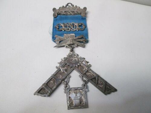 Antique Masonic Past Masters Jewel Lodge with Ribbon #350